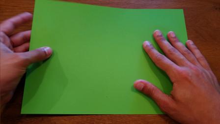 DIY手工:用折纸叠出青蛙