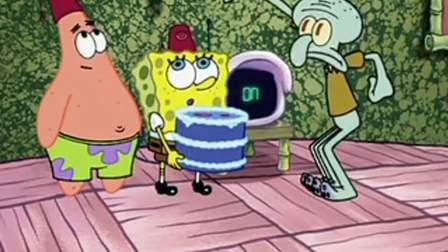 海绵宝宝来送蛋糕给章鱼哥,不料章鱼哥告诉防御系统,他是入侵者