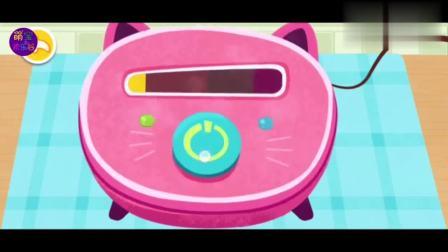 宝宝巴士鲜花房手提电话小游戏,把鲜花饼送给小猴子吧