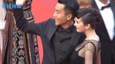 杨幂活动碰面刘恺威主动牵手,刘恺威当众搂腰拥抱她