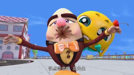 疯狂小糖:瓜先生要吃棉花糖,两个人拿来棉花和糖,好糊弄啊