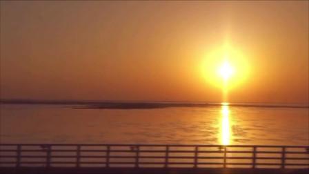 黄昏里的南京天空之镜石臼湖