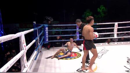 18岁的中国硬汉腿硬的吓人,一脚过去对手的腿就青了,几脚踢瘸