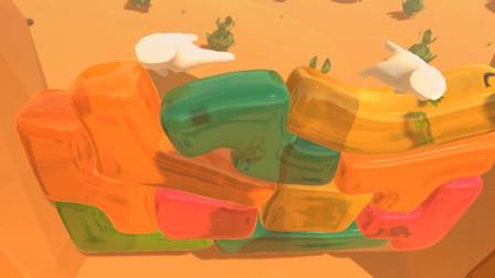 果冻做的俄罗斯方块,超级滑溜,老外用特效玩起来太Q弹过瘾了