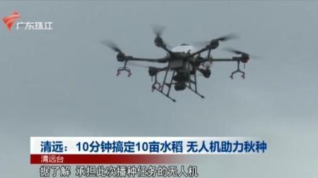 清远:10分钟搞定10亩水稻  无人机助力秋种 珠江新闻眼 20200806