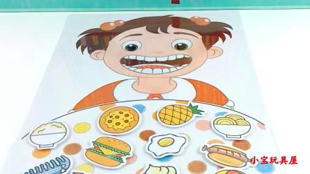 小姐姐先洗手后吃饭,汉堡披萨和棒棒糖