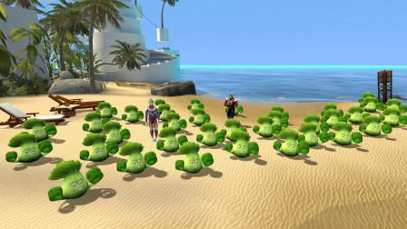 迪迦和欧布奥特曼在海边种大白菜,他们不用打怪兽吗?