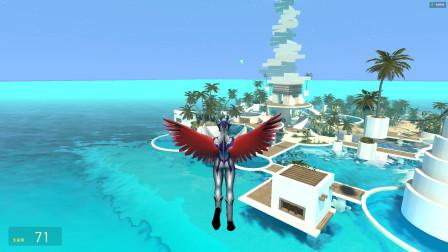赛罗奥特曼长了一对翅膀,他可以飞越大海了吗?