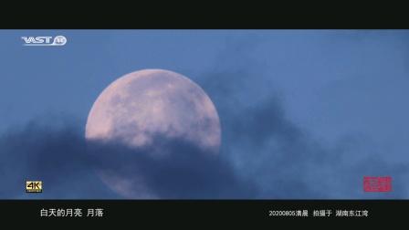 白天的月亮《东江湾月落》20200805 延时摄影