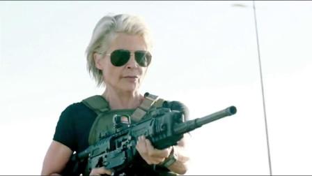 终结者追杀小女孩,双枪老奶奶帅气出场,一发导弹解决他!