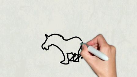 如何画斑马