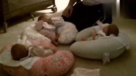 新手奶爸独自照顾三胞胎,一晚上过后,奶爸反应让人笑翻了