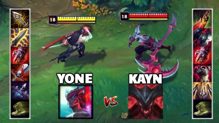 LOL:神装永恩VS神装凯隐,哪个英雄更强?