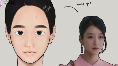 【美 妆动画】韩剧《虽然是精神病但没关系》女主角高文英仿 妆~ @迹象Trend