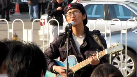 [探索北京]2010年中关村街头歌手的一曲《蓝莲花》(原声片段)