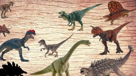 侏罗纪世界 学习恐龙用暴龙三角龙命名声音迅猛龙腕龙甲龙