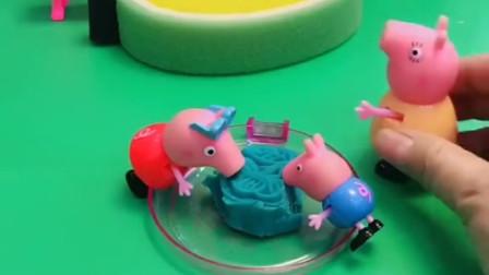 僵尸抓走了猪爸爸,佩奇乔治在家吃月饼,没时间去救猪爸爸
