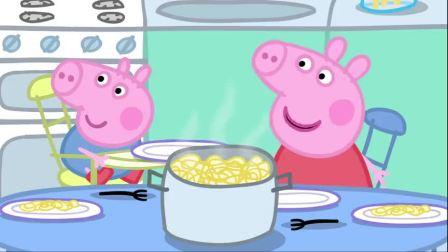 小猪佩奇猪爸爸猪妈妈太累了,照顾完孩子们,都困得不行了