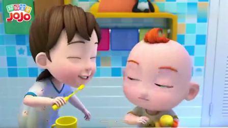 超级宝贝:做干净的宝宝,早晚都要刷牙,这样才不会有蛀牙