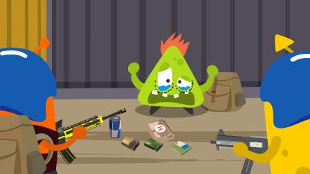 搞笑吃鸡动画:跳G港每次都打不过,这次毫无悬念又仓皇而逃了