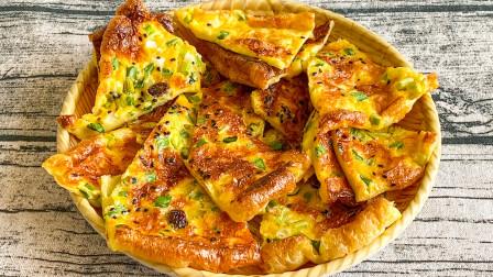 家庭版披萨,有牛奶有鸡蛋,有营养还健康,简单又好吃适合做早餐