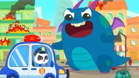 奇奇遇到机器人大魔王怎样才能打败他呢?宝宝巴士