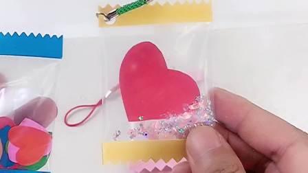 制作爱心糖果书包吊坠,简单又好看