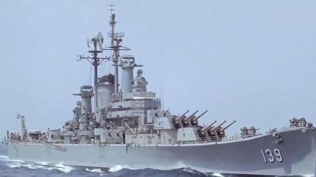 1956年经典海战大片,英德战舰在海上进行火炮对射,口径即是真理