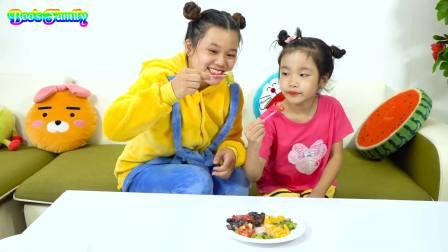 国外儿童时尚,妈妈做水果拼盘,真是太好看了