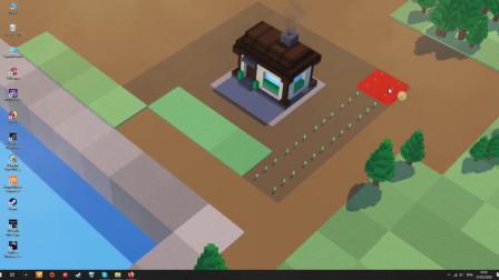 【游戏资讯】别搞壁纸了 直接在桌面上种菜吧!【桌面农场】宣传视频【这个创意 哈哈】