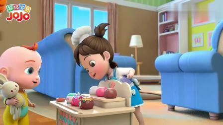 超级宝贝:宝宝选草莓冰淇淋,姐姐帮忙做,真好吃