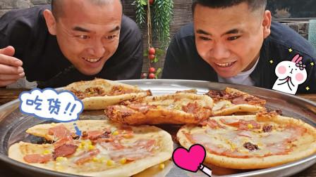 """徒弟用中式做法自制一道油炸培根披萨,香软又美味,结果""""爱了"""""""