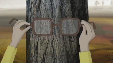 外公去世后,男孩给樱桃树戴上眼镜,俄罗斯治愈动画
