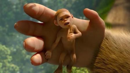 小猩猩太瘦小被父母抛弃,却因智商太高,进化成第一个原始人