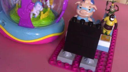 猪猪侠波比收银机水果切切看奇趣蛋