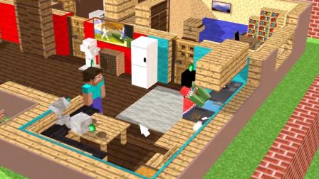 我的世界动画-怪物学院-模拟人生挑战-MineSchool