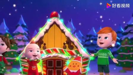 超级宝贝JOJO:姜饼屋,圣诞老爷爷用魔法帮姜饼屋装扮房子