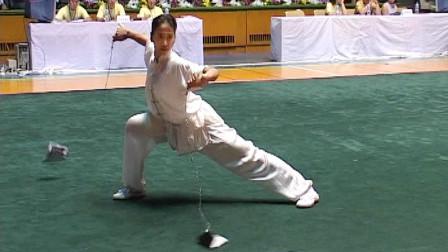 2005年全国武术套路冠军赛传统项目比赛 女子器械 016 女子双鞭 常星(吉林)第二名