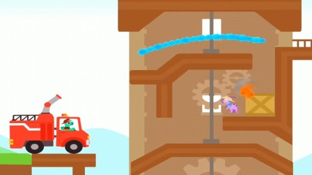 霸王龙救援被困在阁楼里的小恐龙结果?