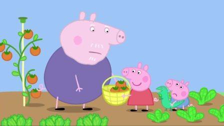 小猪佩奇:乔治太挑食,番茄生菜黄瓜都不爱吃,只喜欢吃巧克力蛋糕