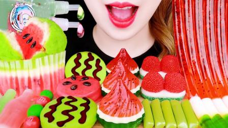 琳琅满目的西瓜风甜品,闪耀着诱人光彩,哪种更有吸引力