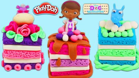 儿童动画雪花彩泥粘土DIY手工制作玩具视频教程大全 方形卡通蛋糕