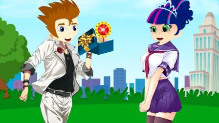 紫悦做了神灯蛋糕,获得了冠军 小马国女孩游戏