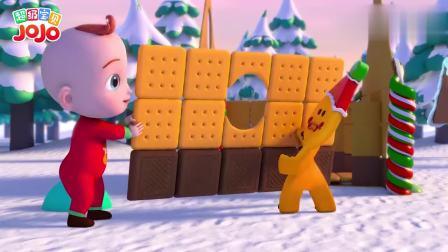 超级宝贝:宝宝和小饼干一同制作姜饼屋,宝宝们玩得很欢快