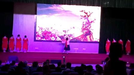 舞蹈《红梅赞》英娇艺术团彩排演出2020年8月9日。