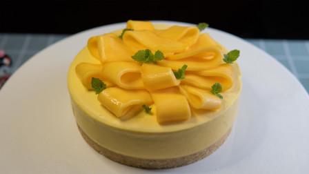 芒果芝士蛋糕(慕斯蛋糕)不用烤箱做蛋糕!盛夏里清凉的法式甜吻?哦不,我只知道我舔了盘子