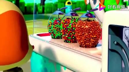 宝宝巴士:乐乐想要一个香草味的冰淇淋,机器人一下做好,真好看