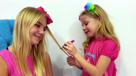 国外儿童时尚,娜斯佳和玛格丽塔在玩女孩子系列游戏,来看看吧