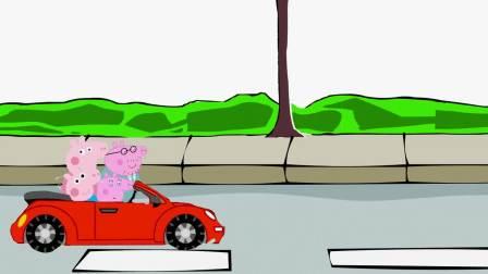 动画剧场:佩奇一家开车去超市购物,是谁多拿了巧克力蛋糕?