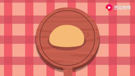 迷你特工队益智卡通:露西吃了一大张水果糖味道的披萨饼